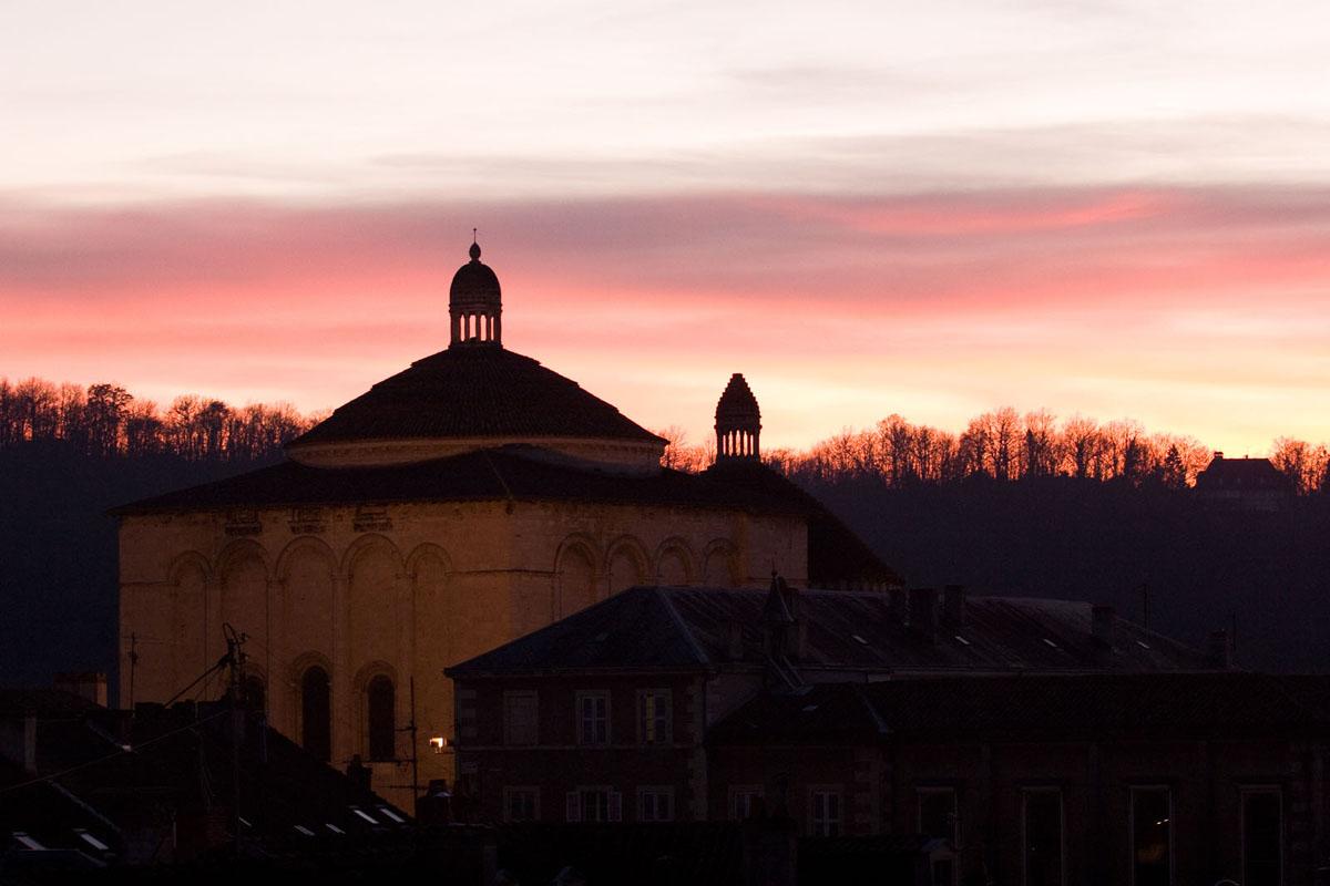 Photo église de la Cité, Périgueux, de nuit