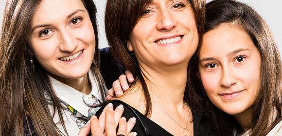 Portrait en famille pour la fête des mères