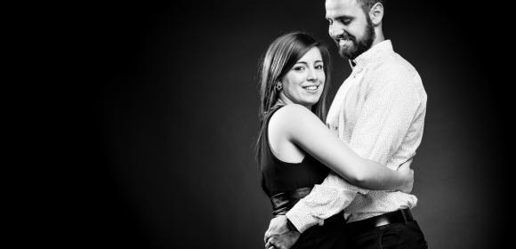 Portrait d'un couple d'amoureux pour la Saint Valentin